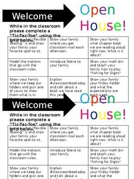 Open House Tic Tac Toe