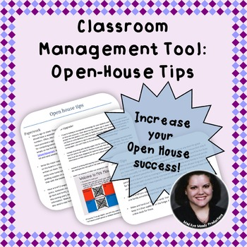 Open House Tips for Back to School!