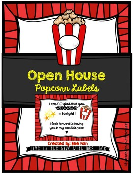 Open House Treat (Popcorn Labels)