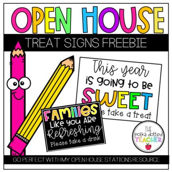 Open House Treat Signs