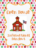 Open House or Welcome Info