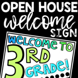 Open House Welcome Sign FREEBIE