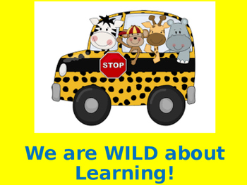 Open House: Wild About Learning theme.