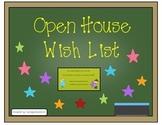 Open House Wish List