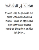 Open House Wishing Tree Instructions and Sign-up List