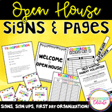 Open House and First Day Organization Starter