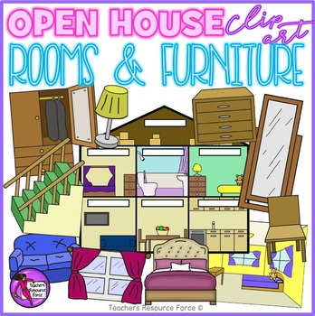 House, Rooms and Furniture Clip Art