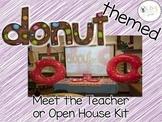 Open House and Meet the Teacher DONUT Theme... editable