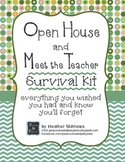 Open House and Meet the Teacher Event Survival Kit - Dots and Chevron Theme