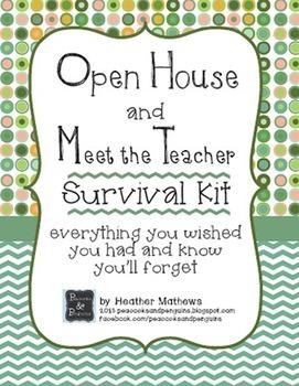 Open House and Meet the Teacher Event Survival Kit - Dots
