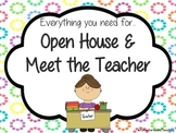 Open House and Meet the Teacher Signs and Bundle