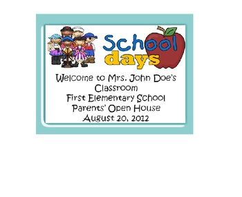 Open House for Parents Back to School Power Point Pirate Template