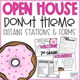 Open House l Meet the Teacher - Donut Theme EDITABLE