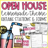 Open House l Meet the Teacher - Lemonade Theme EDITABLE