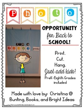 Open House or Back to School Grade Level Photo Booth Banne