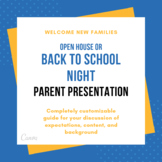 Open House or Back to School Night Parent Presentation