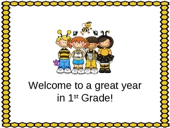Open House or Back to School PowerPoint Presentation -Bee Themed