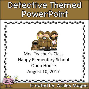 Open House or Back to School PowerPoint Presentation - Detective Theme