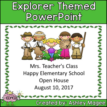 Open House or Back to School PowerPoint Presentation - Explorers Theme