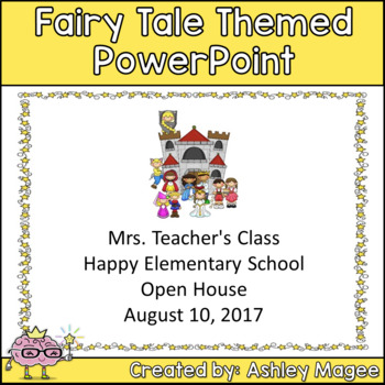 Open House or Back to School PowerPoint Presentation Fairy Tale Theme