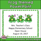 Open House or Back to School PowerPoint Presentation - Frog Theme