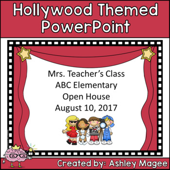 Open House or Back to School PowerPoint Presentation - Hollywood Theme