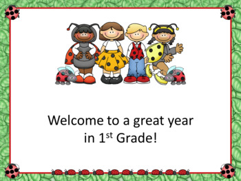 Open House or Back to School PowerPoint Presentation - Ladybug Theme