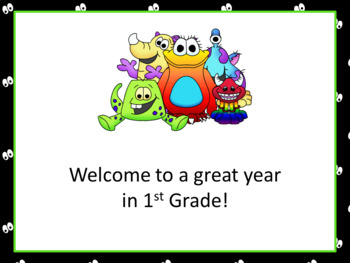 Open House or Back to School PowerPoint Presentation - Monster Theme