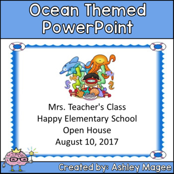 Open House or Back to School PowerPoint Presentation - Ocean Themed