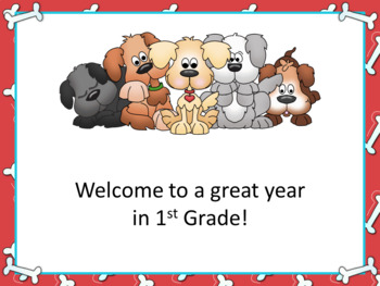 Open House or Back to School PowerPoint Presentation - Puppy Dog Theme