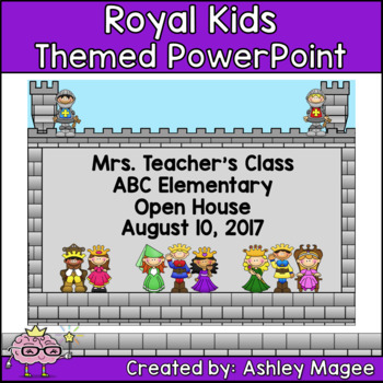 Open House or Back to School PowerPoint Presentation - Royal Kids Theme