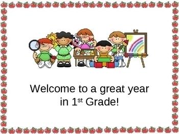 Open House or Back to School PowerPoint Presentation School Kids Theme