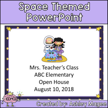 Open House or Back to School PowerPoint Presentation - Space Theme
