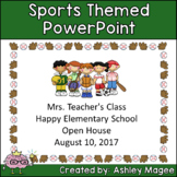 Open House or Back to School PowerPoint Presentation - Sports Theme