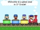 Open House or Back to School PowerPoint Presentation - Train Theme