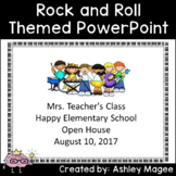 Open House or Back to School PowerPoint Rock and Roll Themed