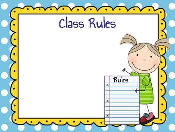 Open House or Back to School template with easy to change slides
