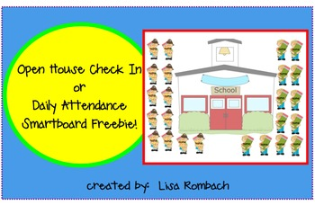 Open House or Daily Attendance SmartBoard file