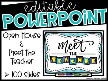 Open House or Meet the Teacher PowerPoint Presentation (Editable)