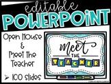Meet the Teacher & Open House PowerPoint Presentation (Editable)