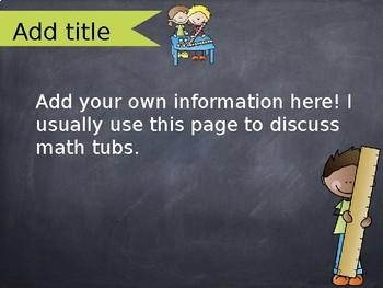 Open House or Meet the Teacher Presentation Rainbow Chalk FULLY EDITABLE