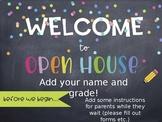 Open House or Meet the Teacher Presentation Rainbow Chalk