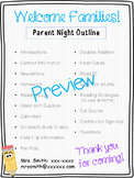 Open House or Parent Night Pack!