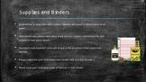 Open House or Parent Orientation Powerpoint Editable