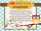 Owl Themed Open House Powerpoint