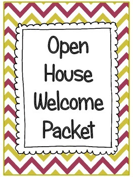 Open House welcome packet