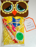 Open House/1st day of school Owl Treat Bags (set of 12)