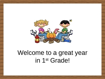 Open House/Back to School PowerPoint - Camping Theme