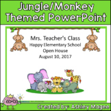 Open House/Back to School PowerPoint Jungle/Safari/Monkey Theme