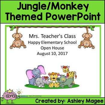Open House/Back to School PowerPoint Jungle/Safari/Monkey Theme